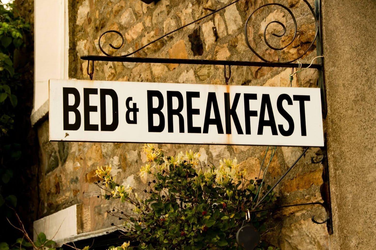 bed&breakfast uithangbord