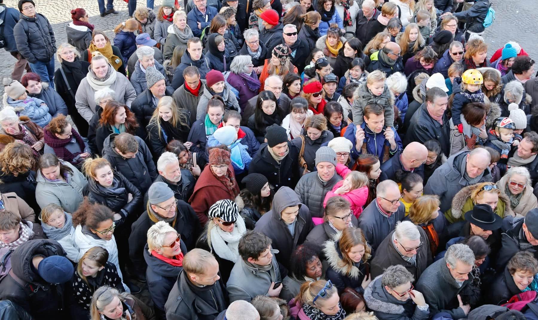 mensen menigte